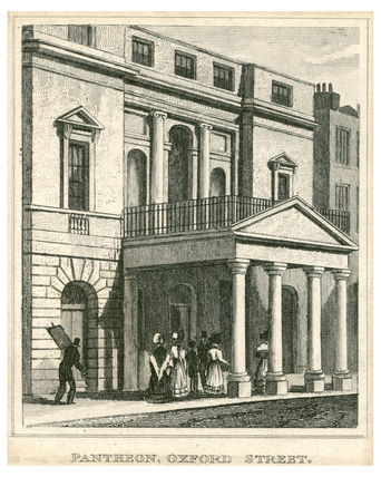 The Pantheon on Oxford Street: c.1800