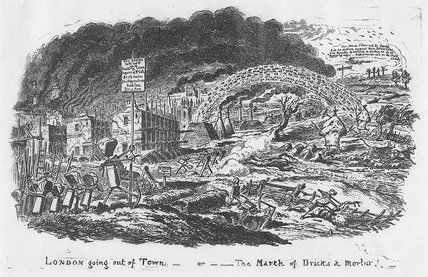 London Going Out of Town or the March of Bricks and Mortar: 1829