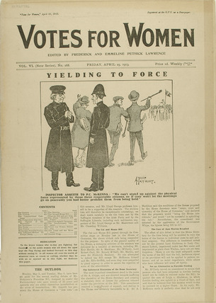 Cover of the newspaper Votes for Women: 1913