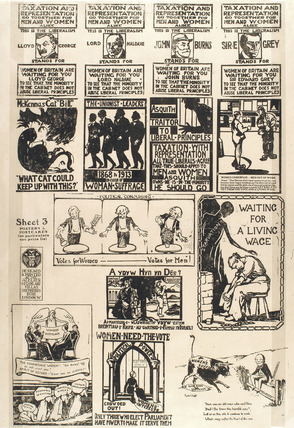 Suffragettes advertisement poster: 1913