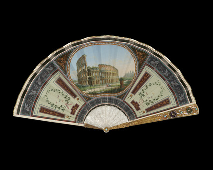 Painted fan: 19th century