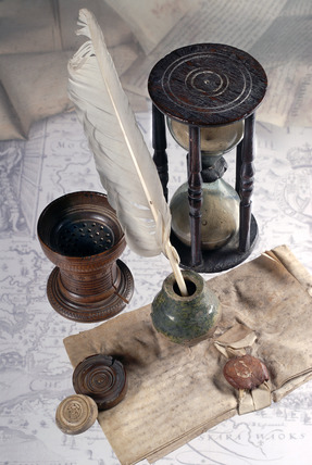 Selection of writing tools: 16th-17th century.