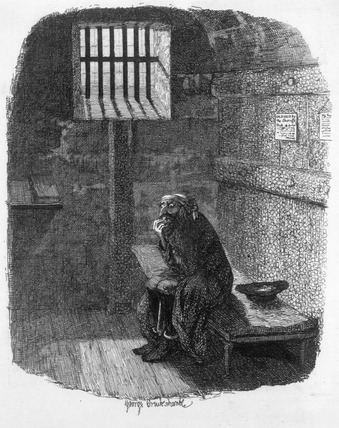 Fagin in the condemned cell: 18th century