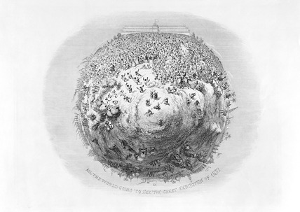 All the world going to see the Great Exhibition: 1851