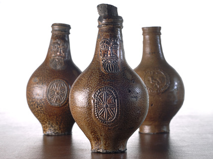 Selection of Frechen Bartmann jars: 17th century
