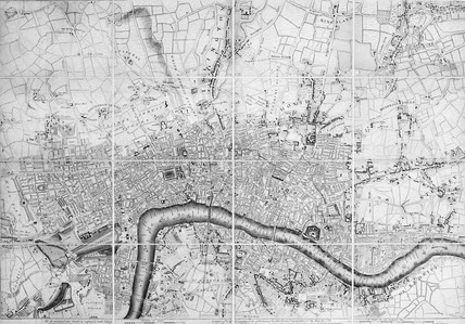 A plan of London with all the new streets, lanes, roads &c to this present year by John Rocque topographer to his Majesty: 18th century