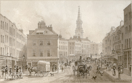Broad Street, St Giles: 1830