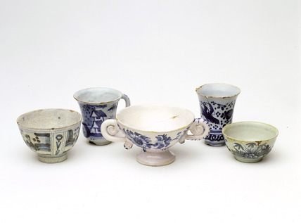 Selection of post-medieval tin glazed ceramics