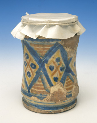 Majolica drug jar: late 16th -18th century