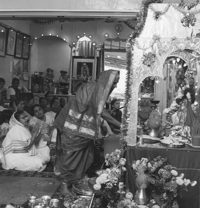 Worshippers celebrating the 22nd Ganesh Festival: 1973