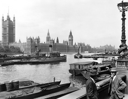 The Palace of Westminster from the Albert Embankment: 1920-1933