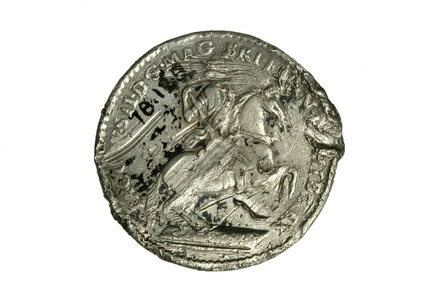 Plantation token with equestrian figure: 17th century