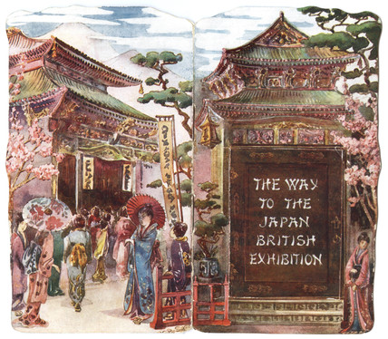 The way to the Japan - British Exhibition: 1910