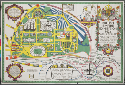 Map of the British Empire Exhibition 1924