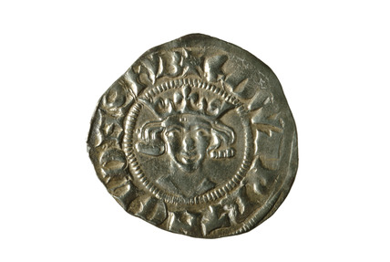 Edward II silver penny: 14th century