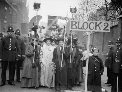 Suffragette procession: 20th century