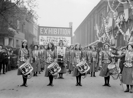 W.S.P.U. band at The Women's Exhibition: 1909