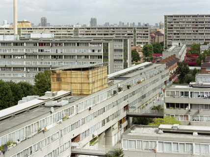 Elevated view of the Aylesbury Estate, Walworth: 1997