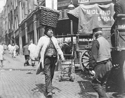 A fish porter at Billingsgate: 1893