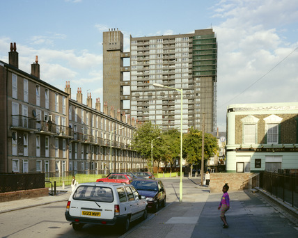 The Balfron Tower, from Tayburn Close, Poplar: 1997