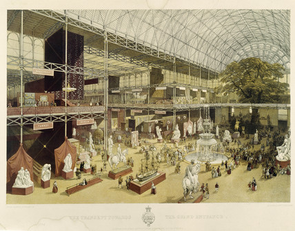 The transept towards the grand entrance Crystal Palace: 1851