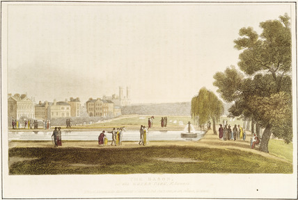 The Bason in Green Park: 1810
