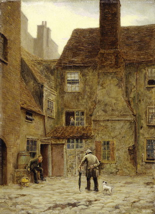 The Back Yard of the Queen's Head Inn: 1883