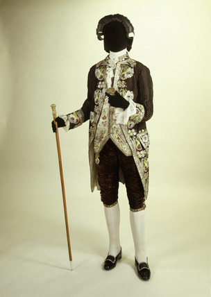 Man's court suit: 1780