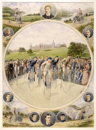 Cycling at Alexandra Palace: 1886