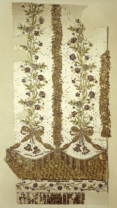 Fragment of court dress' petticoat: 1780