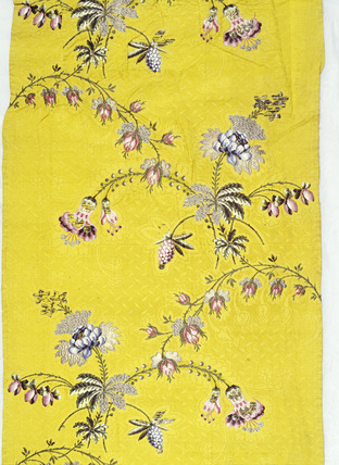 Spitalfields silk with floral taffeta: 18th century