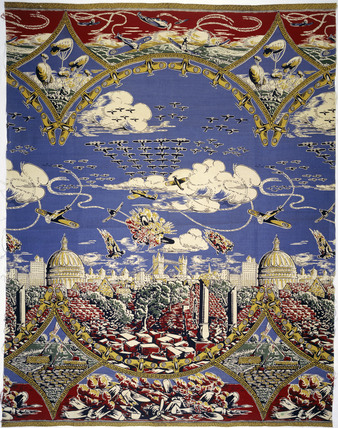 Fabric with a scene of the Battle of Britain: 20th century