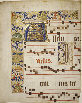 A page from a 'gradual': 15th century