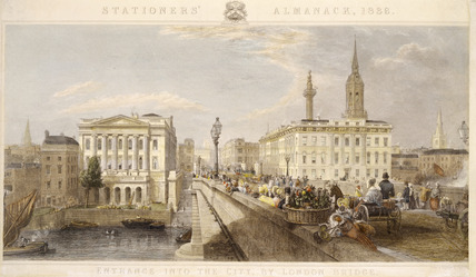 Entrance into the City by London Bridge: 1836
