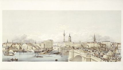 View of London from the South Bank: 19th century