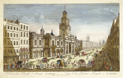 A View of the Royal Exchange, London: 1751