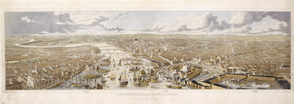 An Aeronautical View of London: 1836