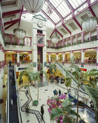 Interior of Vicarage Fields Shopping Centre: 2000
