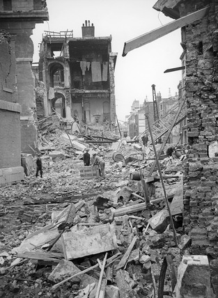 Bomb Damage at Lower Thames Street: 1944