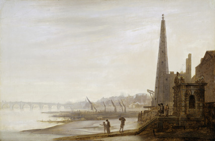 Westminster and Westminster Bridge from York Stairs: 18th century