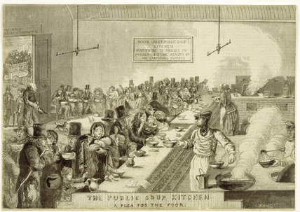 The Public Soup Kitchen; A Plea for the Poor: 1858