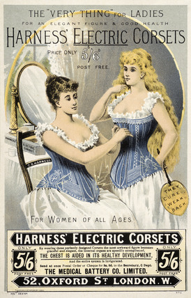 Advertisement for 'Harness' Electric Corsets: 19th century