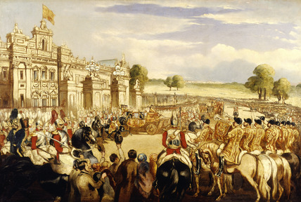 The Christening Procession of the Prince of Wales leaving Buckingham Palace: 19th century