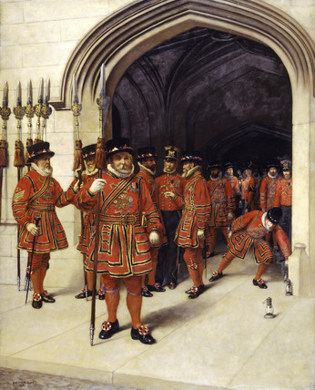 The Yeoman of the Guard Searching the Crypt of the Houses of Parliament: 1894