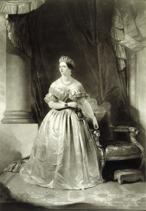 Queen Victoria in her Wedding Dress: 1857