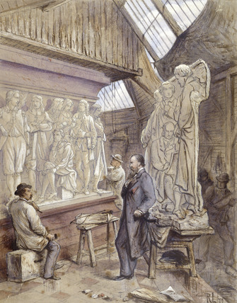 John Birnie Philips at work on the Albert Memorial: 1872
