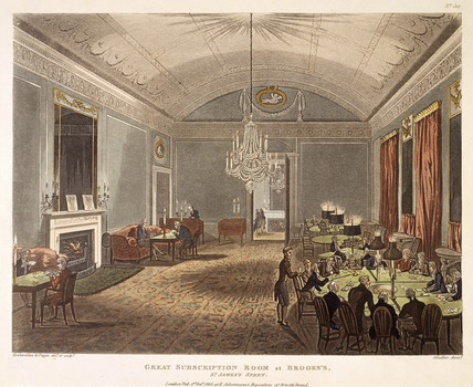 Great Subscription Room at Brooke's: 1808