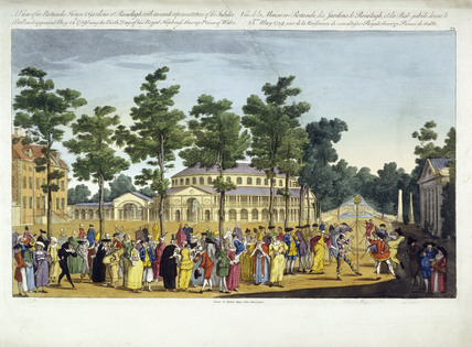 A View of the Rotunda, House and Gardens at Ranelagh with an exact representation of the Jubilee Ball as it appeared May 24th 1759 being the Birth Day of His Royal Highness George Prince of Wales