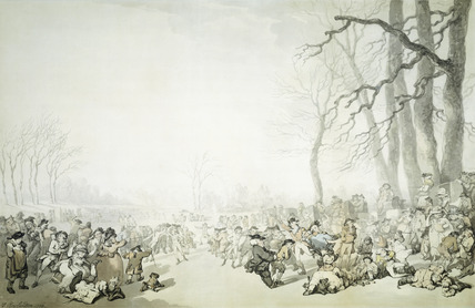 Skaters on the Serpentine: 1786