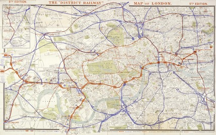 The District Railway map of London: 19th century